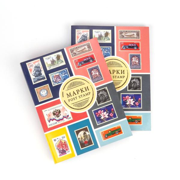 Альбом для хранения марок формат А5 на 16 стр. (цветной) - мягкая обложка