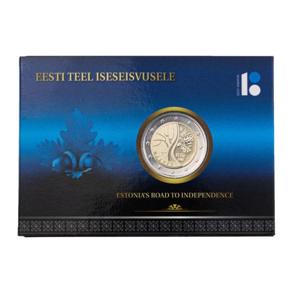 Эстония 2 евро 2017 год Путь к независимости (в коинкарте)