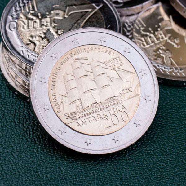 Эстония 2 евро 2020 год 200 лет открытию Антарктиды