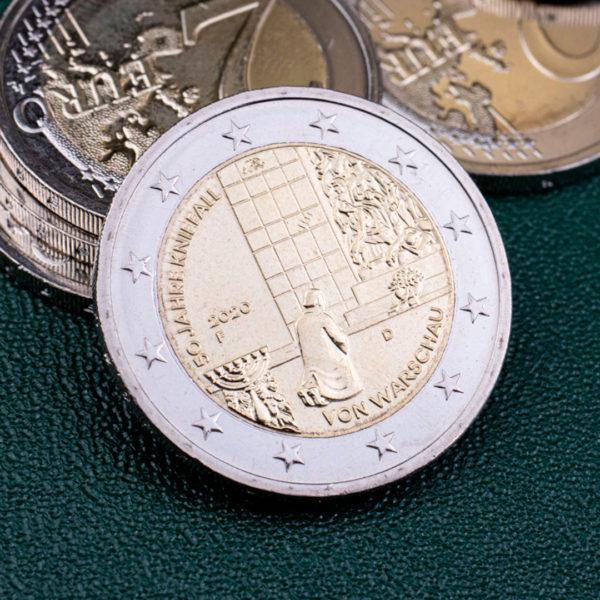 Германия 2 евро 2020 год 50 лет Коленопреклонению в Варшаве - F