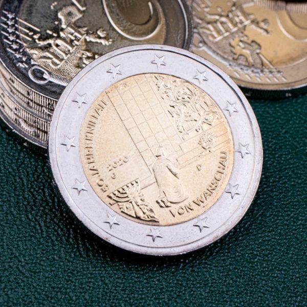 Германия 2 евро 2020 год 50 лет Коленопреклонению в Варшаве - G