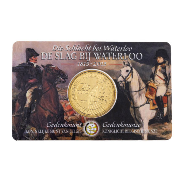 Бельгия 2,5 евро 2015 год 200 лет Битве при Ватерлоо (в коинкарте)