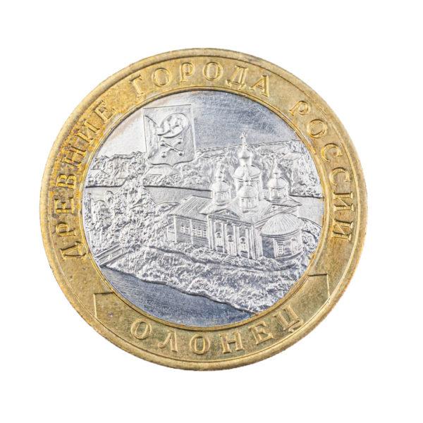 Россия 10 рублей 2017 год Олонец