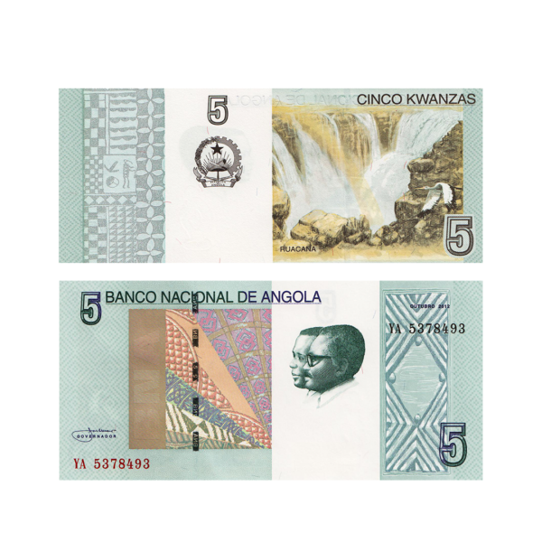 Ангола банкнота 5 кванз 2012 год