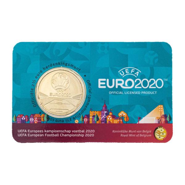 Бельгия 2,5 евро 2021 год Чемпионат Европы по футболу UEFA EURO 2020 (в коинкарте)