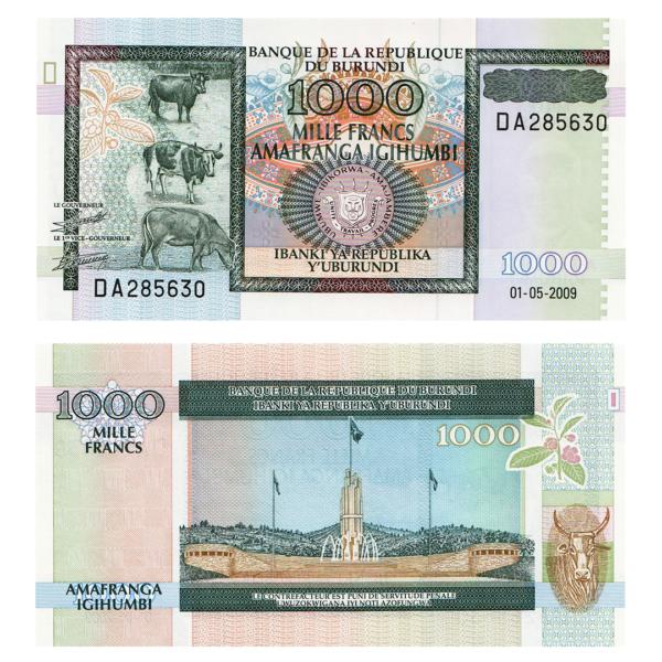 Бурунди  банкнота 1000 франков 2009 год