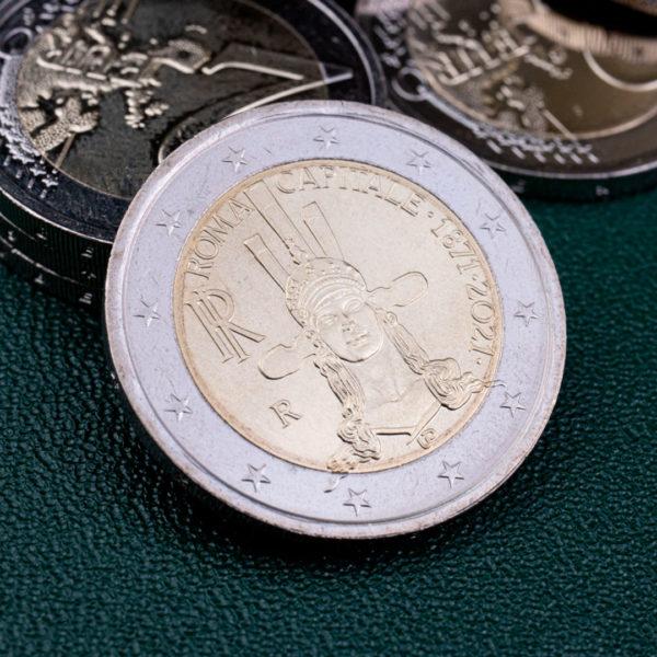 Италия 2 евро 2021 год 150 лет объявления Рима столицей Италии