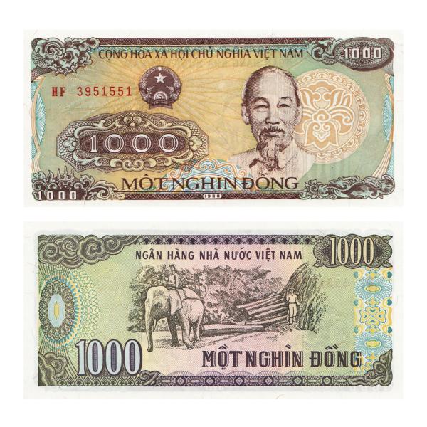 Вьетнам банкнота 1000 донгов 1988 год