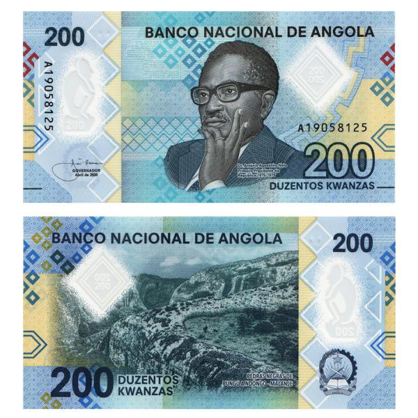 Ангола полимерная банкнота 200 кванза 2020 года