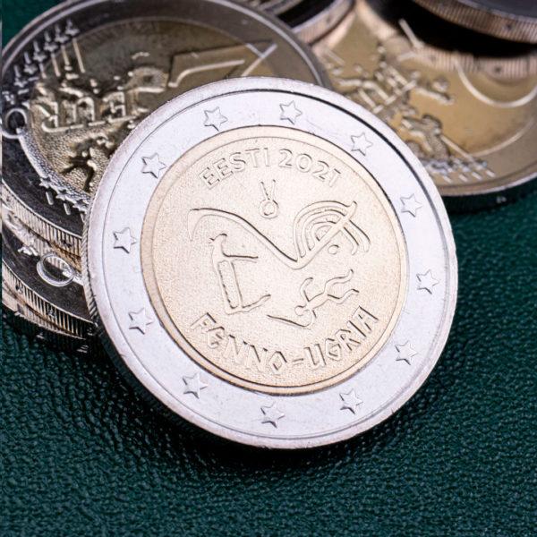 Эстония 2 евро 2021 год - Финно-угорские народы