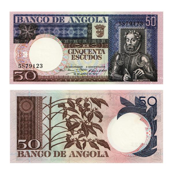 Ангола банкнота 50 эскудо 1973 года