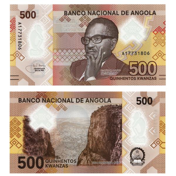 Ангола полимерная банкнота 500 кванза 2020 года