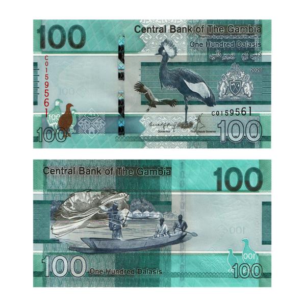 Гамбия банкнота 100 даласи 2020 года