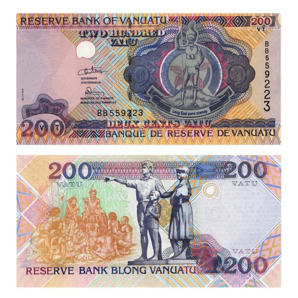 Вануату банкнота 200 вату 1995 года