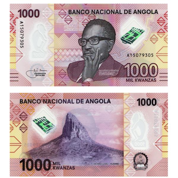 Ангола полимерная банкнота 1000 кванза 2020 года