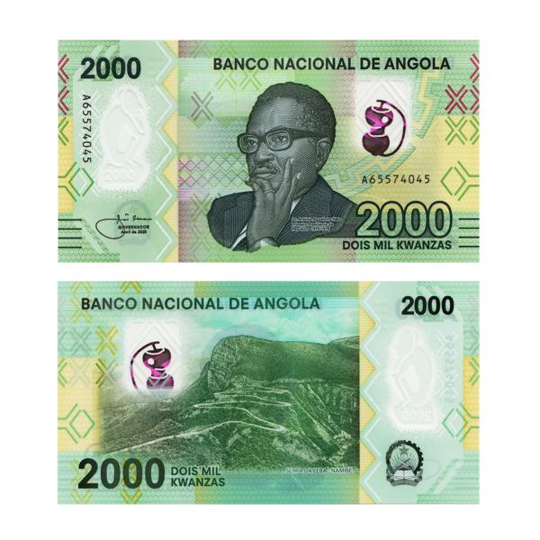 Ангола полимерная банкнота 2000 кванза 2020 года