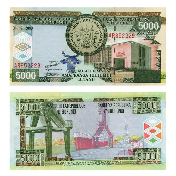 Бурунди  банкнота 5000 франков 2008 года