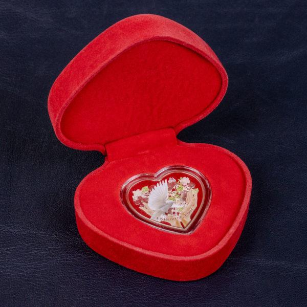 Острова Кука 1 доллар 2012 год - Несокрушимая любовь - Серебро 0,999
