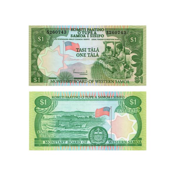 Самоа банкнота 1 тала 1980 года