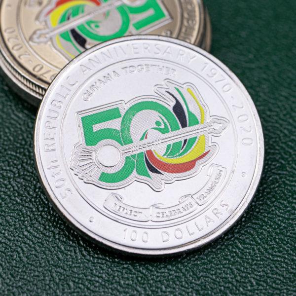 Гайана 100 долларов 2020 год - 50 лет Кооперативной Республике Гайана