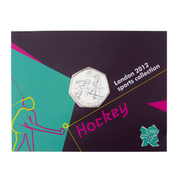 Великобритания 50 пенсов 2011 год - Хоккей на траве (в коинкарте)