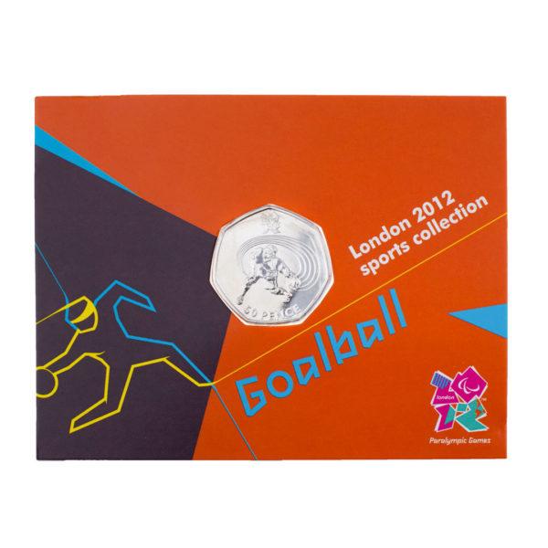 Великобритания 50 пенсов 2011 год - XIV летние Паралимпийские игры, Лондон 2012-Голбол (в коинкарте)