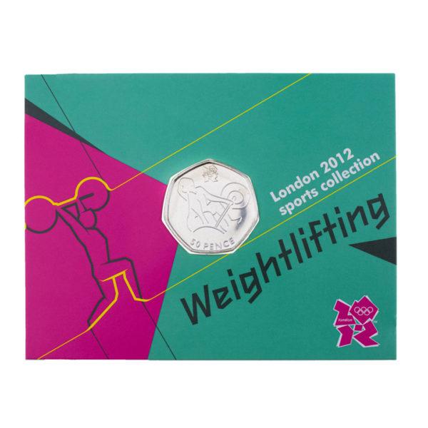 Великобритания 50 пенсов 2011 год - Тяжёлая атлетика (в коинкарте)