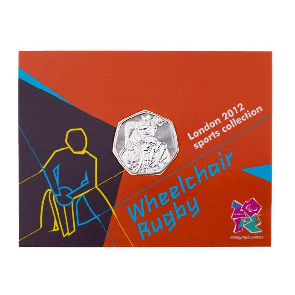 Великобритания 50 пенсов 2011 год - XIV летние Паралимп игры, Лондон 2012 - Регби сидя(в коинкарте)