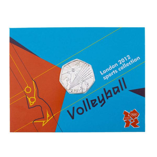 Великобритания 50 пенсов 2011 год - Волейбол (в коинкарте)