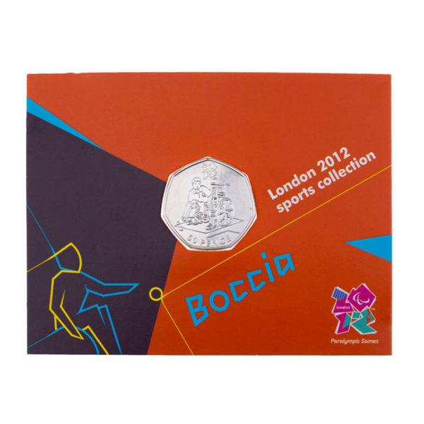 Великобритания 50 пенсов 2011 год - XIV летние Паралимпийские игры, Лондон 2012- Бочче (в коинкарте)