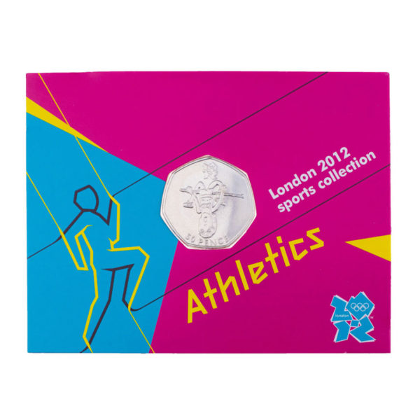 Великобритания 50 пенсов 2011 год - Лёгкая атлетика (в коинкарте)