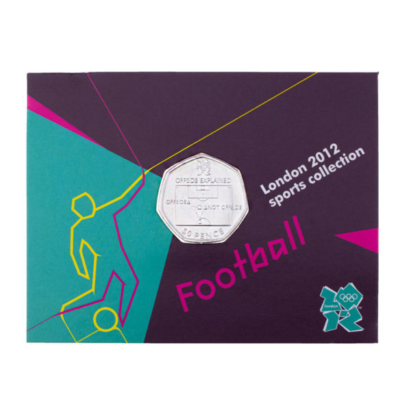 Великобритания 50 пенсов 2011 год - Футбол (в коинкарте)