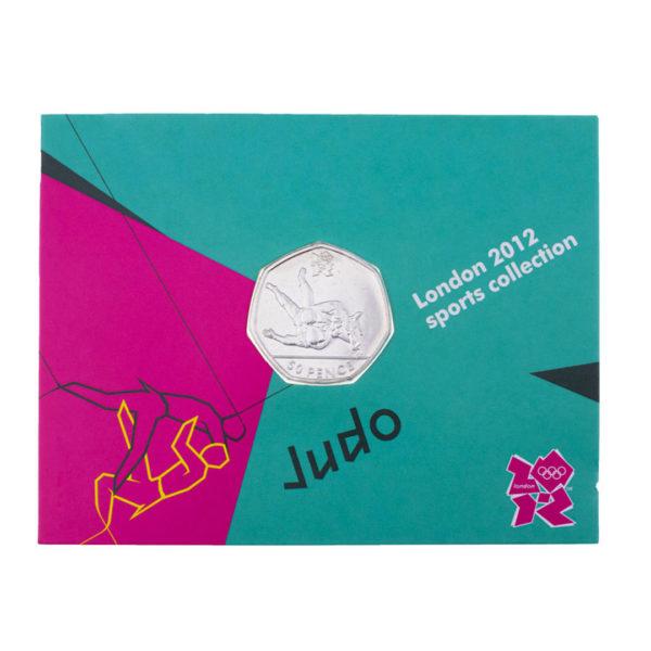Великобритания 50 пенсов 2011 год - Дзюдо (в коинкарте)