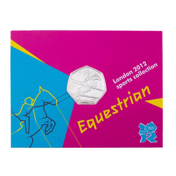 Великобритания 50 пенсов 2011 год - Конный спорт (в коинкарте)