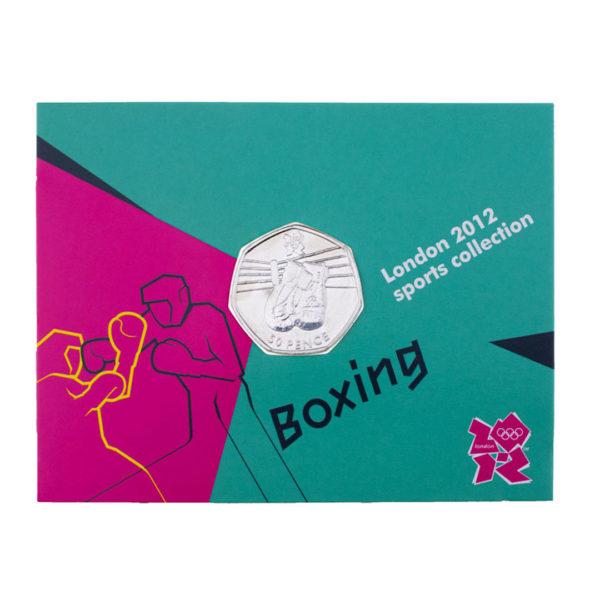 Великобритания 50 пенсов 2011 год - Бокс (в коинкарте)