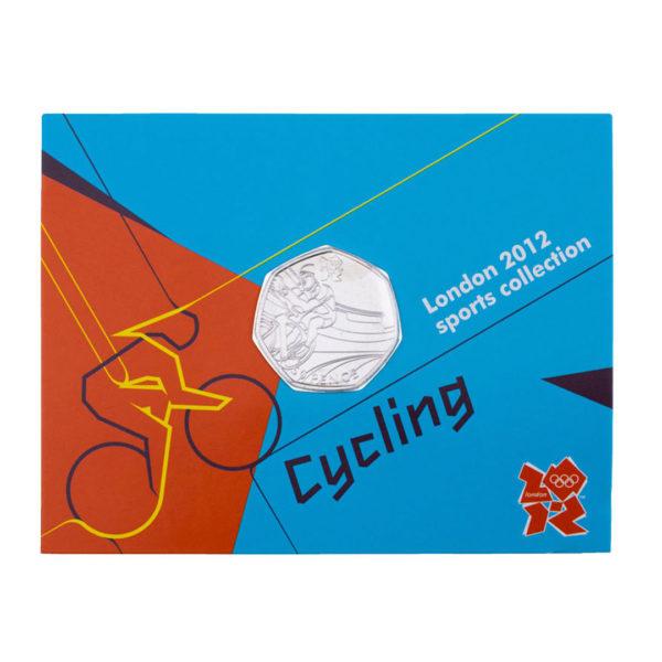 Великобритания 50 пенсов 2011 год - Велоспорт (в коинкарте)