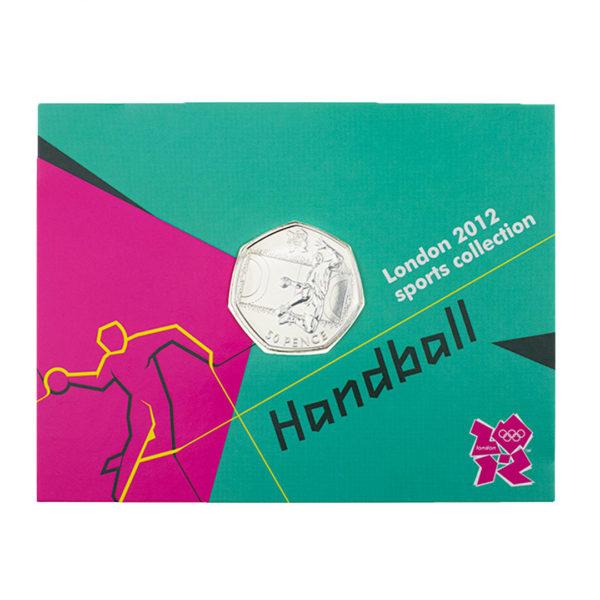 Великобритания 50 пенсов 2011 год - Гандбол (в коинкарте)