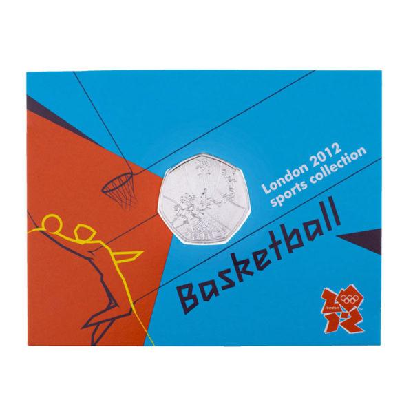 Великобритания 50 пенсов 2011 год - Баскетбол (в коинкарте)