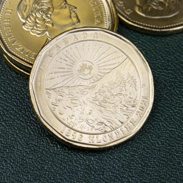 Канада 1 доллар 2021 год - 125 лет клондайкской золотой лихорадке