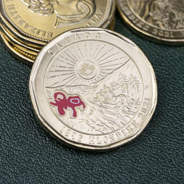 Канада 1 доллар 2021 год - 125 лет клондайкской золотой лихорадке - цветная