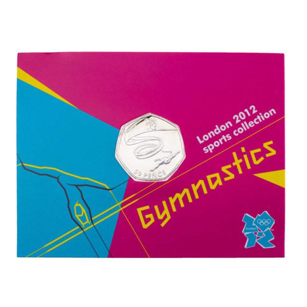 Великобритания 50 пенсов 2011 год - Гимнастика (в коинкарте)